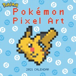 Pokémon Pixel Art Retro 2021 Wall Calendar
