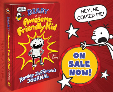 DIARY OF AN AWESOME FRIENDLY KID IS ON SALE NOW